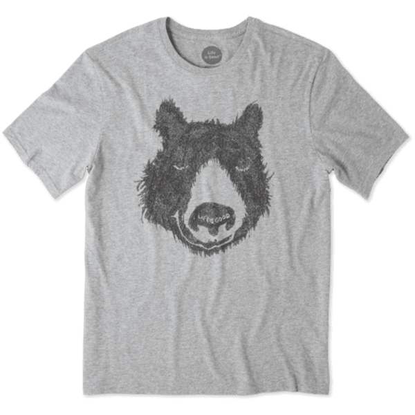 Life is Good Men's Smooth Tee, Outdoor Bear