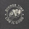 Men's Crusher Tee, Dinner Time Bear