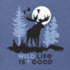 Men's Crusher Tee, Moose Wild Life