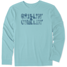 Life is Good Men's Crusher L/S Tee, Grillin' & Chillin'
