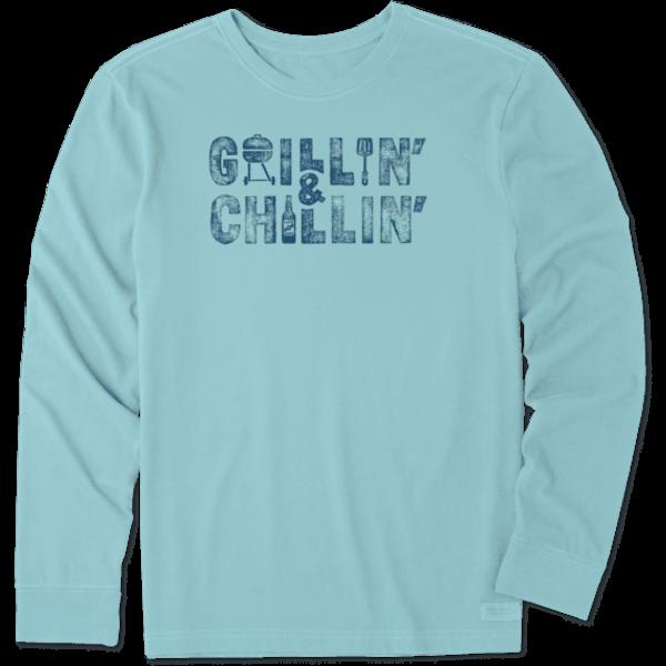 Life is Good Men's Crusher L/S Tee, Grillin' & Chillin'