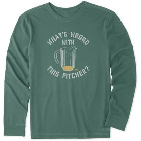 Life is Good Men's Crusher L/S Tee, What's Wrong Pitcher