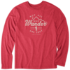 Men's L/S Cool Tee, Not All Who Wander Are Lost