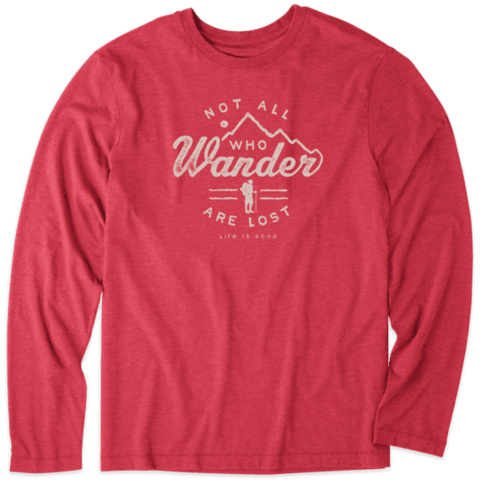 Men's L/S Cool Tee, Not All Who Wander