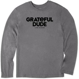 Life is Good Men's L/S Cool Tee, Grateful Dude