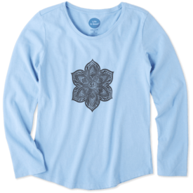Life is Good Girls L/S Smooth Tee, Primal Flower