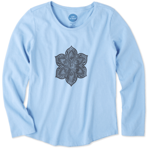 Girls L/S Smooth Tee, Primal Flower