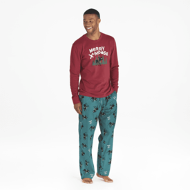 Men's Classic Sleep Pant, Merry X-Moose