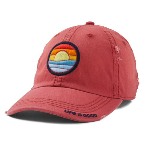 Sunwashed Chill Cap, Seas the Day, Faded Red