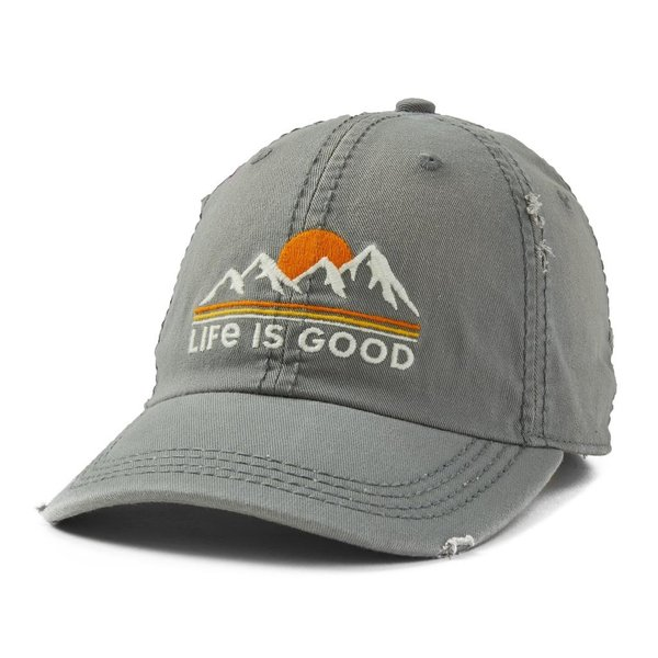 Sunwashed Chill Cap Sunset Mountains