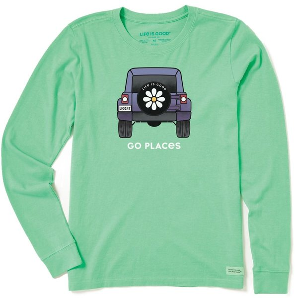 Life is Good Womens Crusher L/S Tee Go Places Jeep