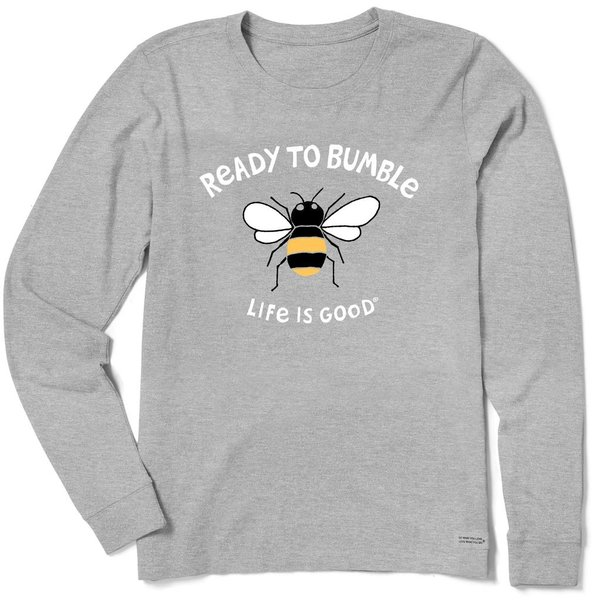 Life is Good Womens Crusher L/S Tee, Ready to Bumble