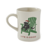 Diner Mug, Santa Dog Adirondack