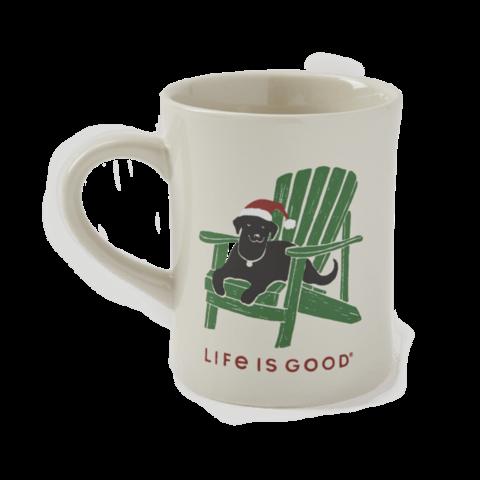 Diner Mug, Santa Dog