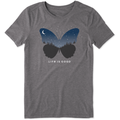 Womens Cool Tee, Celestial Butterfly