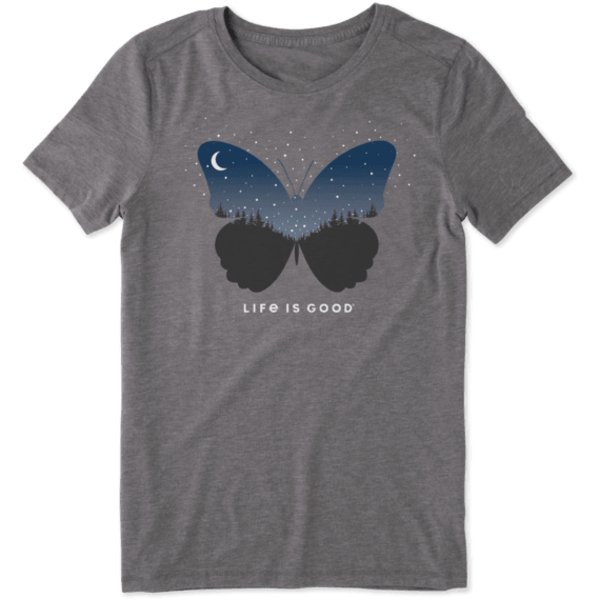 Life is Good Womens Cool Tee Celestial Butterfly