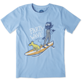 Life is Good Boys Crusher Tee, Party Wave