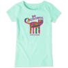 Girls Crusher Tee, Be Colourful Cat