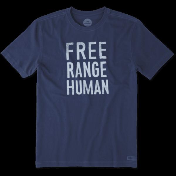Men's Crusher Tee, Free Range Human