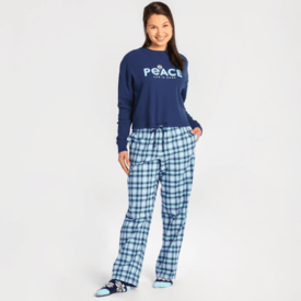 Life is Good Womens Sleep Pants, Plaid