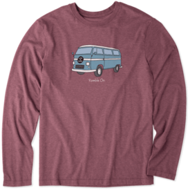 Life is Good Men's L/S Cool Tee, Ramble On Bus