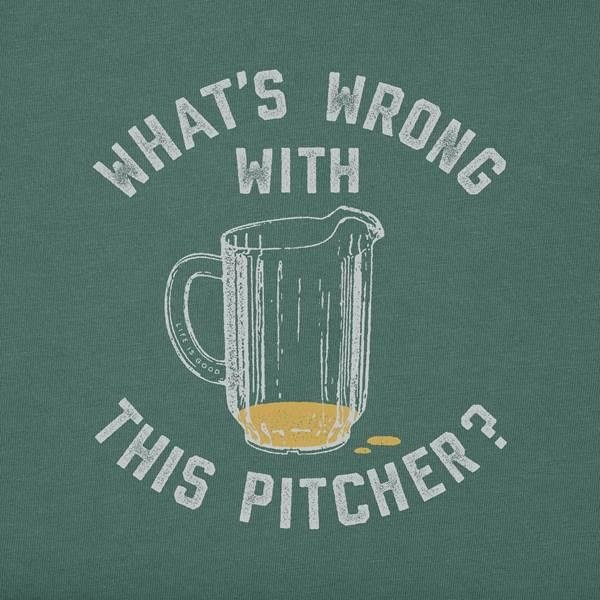 Life is Good Men's Crusher Tee, What's Wrong with this Pitcher