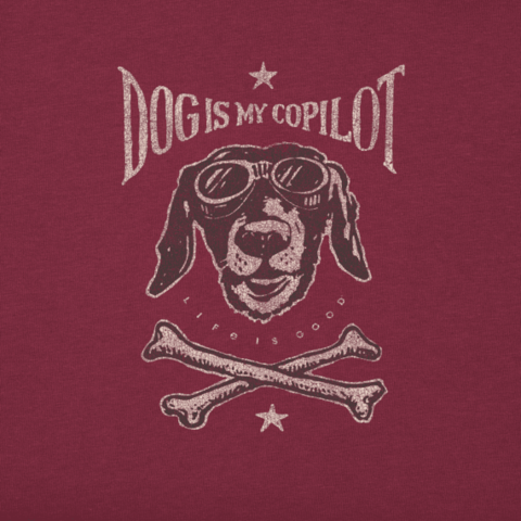 Men's Crusher Tee, Dog is My Co-Pilot