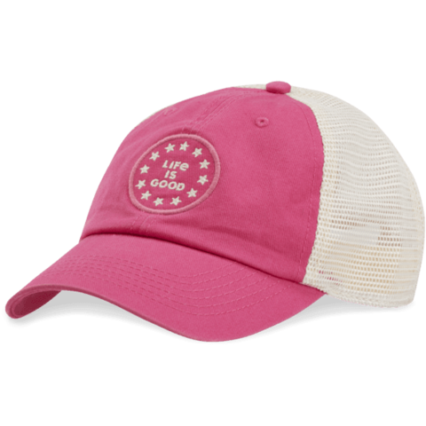 Soft Mesh Back Chill Cap, LIG Stars, Pop Pink