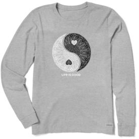 Life is Good Womens Crusher L/S Tee, Give Love Get Love