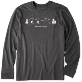 Life is Good Men's Crusher L/S Tee, Pond Hockey