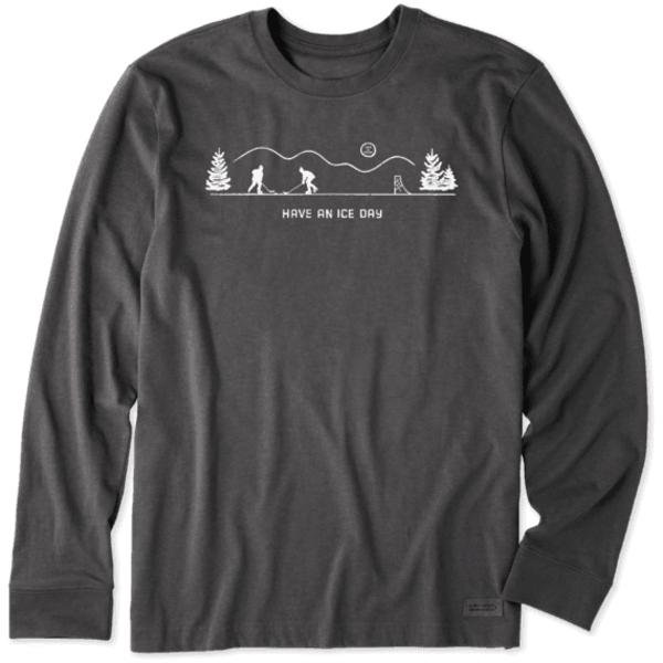Life is Good Men's Crusher L/S Tee Pond Hockey