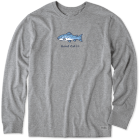 Life is Good Men's Crusher L/S Tee, Good Catch