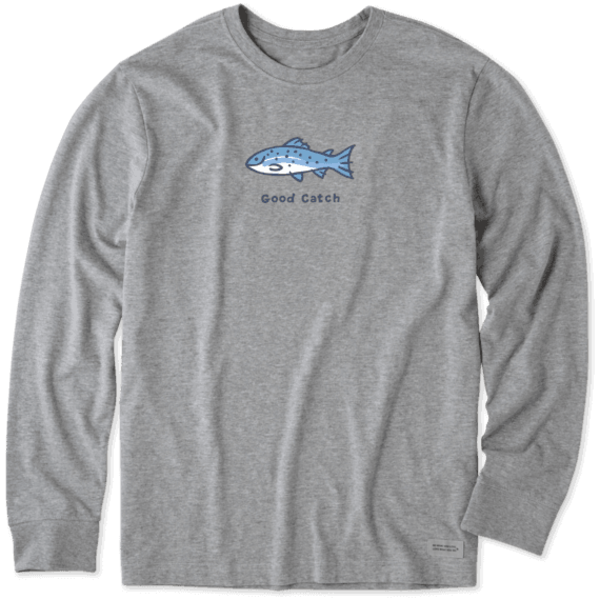 Life is Good Men's Crusher L/S Tee Good Catch Fish