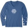 Womens Crusher L/S Tee Watercolour Snowflake