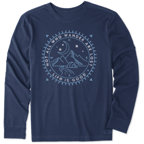Men's Crusher L/S Tee, Not All Who Wander