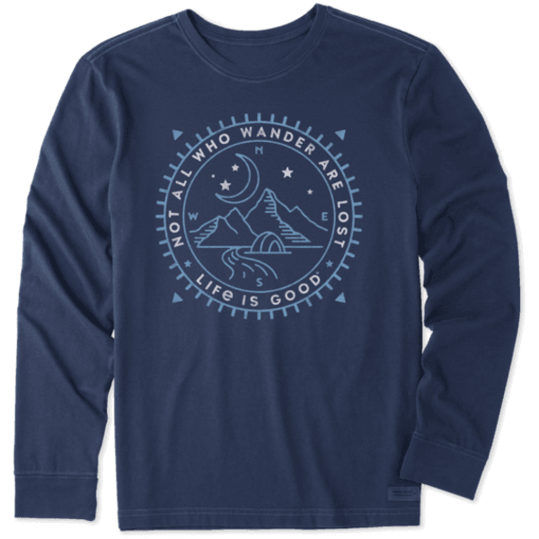 Life is Good Men's Crusher L/S Tee Not All Who Wander