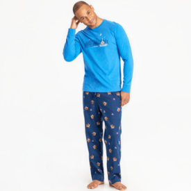 Life is Good Men's Classic Sleep Pant, Cabin Landscape
