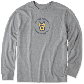 Life is Good Men's Crusher L/S Tee, Be The Person