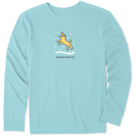 Men's Crusher L/S Tee, Powder Hound