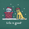 Men's Crusher Tee,  Jake & Rocket Christmas