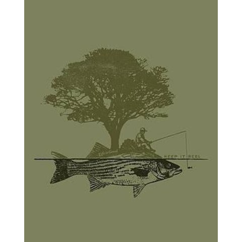 Men's Cool Tee, Tree Fish