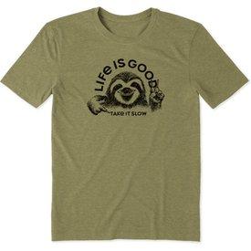 Men's Cool Tee, Take it Slow Sloth