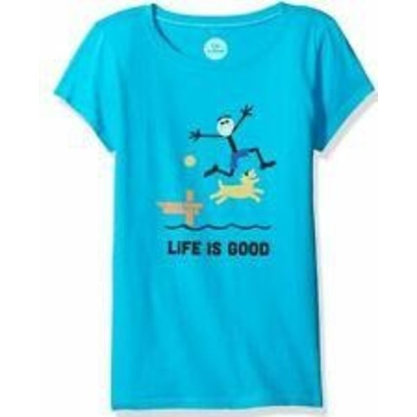 Life is Good Girls Crusher Tee, Dock Jump