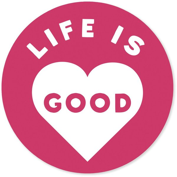 "4"" Sticker Life is Good Heart"