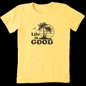 Life is Good Womens Crusher Tee, LIG Palms