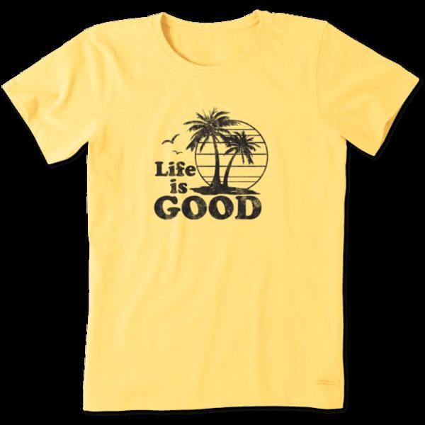 Life is Good Women's Crusher Tee LIG Palms