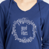 Womens L/S Hooded Tee, Good Vibes Floral