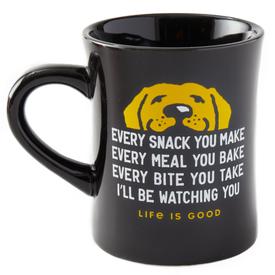 Diner Mug, Every Snack, Jet Black