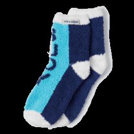 Women's Snuggle Socks, Yeah Buoy, Coastal Blue