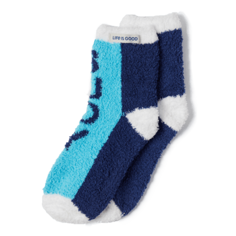 Women's Snuggle Socks, Yeah Buoy, Coastal Blue